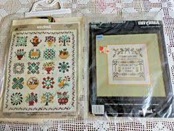 2 counted cross stitch kits friendship quilt