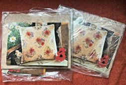 2 embroidery kits FANTASY RED POPPIES NEW UK ANCHOR brand Pi