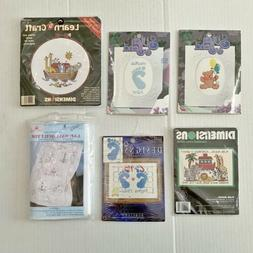 6 Assorted Brands Cross Stitch Needlepoint Kits Welcome Baby
