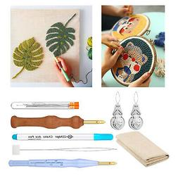 7x Punch Needle Pens Embroidery Kit Tool for DIY Cross Stitc