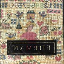 Ehrman AMERICAN LOVE SAMPLER Unstitched NEEDLEPOINT KIT Cand