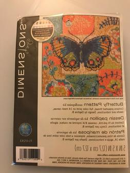 Dimensions BUTTERFLY PATTERN Needlepoint Kit - Sealed New in