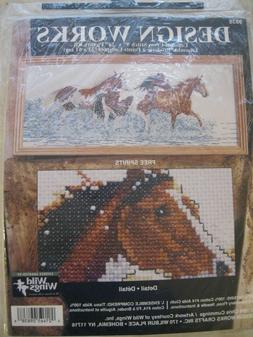 Design Works Crafts Counted Cross Stitch Kit Running Horses