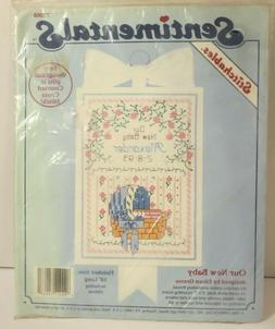 Counted Cross Stitch Needlepoint Kit Our New Baby by Sentime