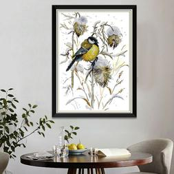 Cross Stitch Stamped/Counted Kits Birds Patterns Embroidery