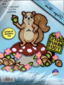 """Design Works Crafts Needlepoint Kit 2163 """"Nuts About You"""" 14"""