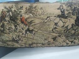 English FoxHound Dog  Hunt Tapestry Equestrian Horses Wall H