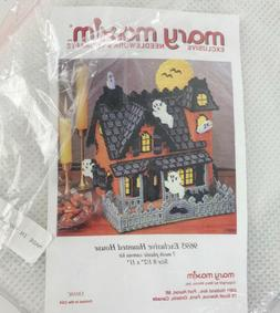 Mary Maxim Exclusive Haunted House Plastic Canvas Kit-8.5x11