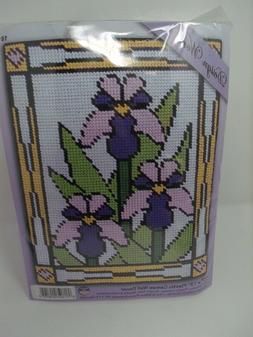 iris stained glass plastic canvas kit 10