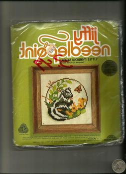 Jiffy Needlepoint Vintage Crewel Picture Kit- Baby Meadow Sk