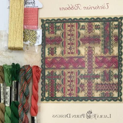 counted canvas needlepoint kit victorian ribbon harvest
