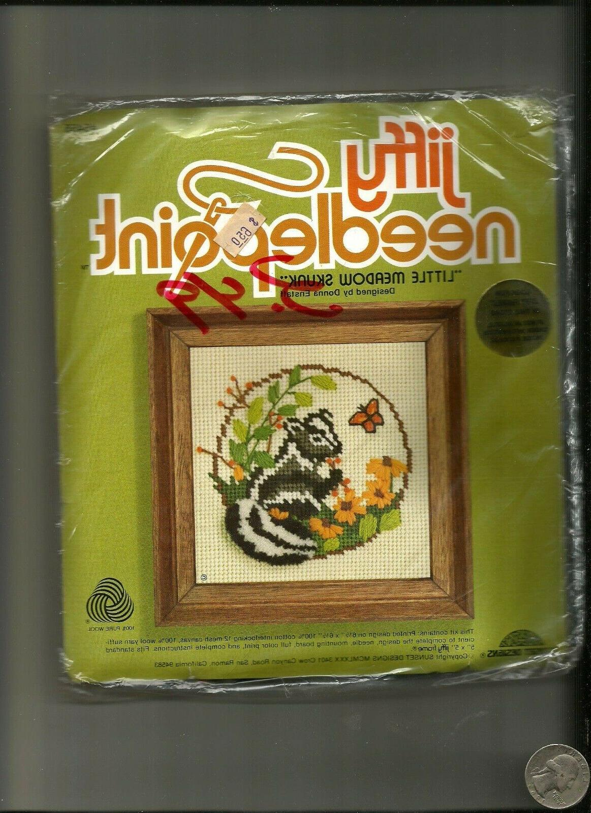jiffy needlepoint vintage crewel picture kit baby