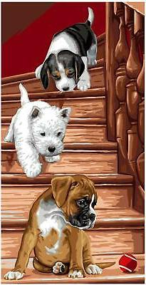 Royal Paris Tapestry/Needlepoint Canvas - Playful Puppies by