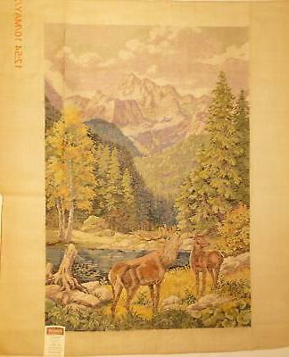 tramme tapestry needlepoint kit stag and mountains