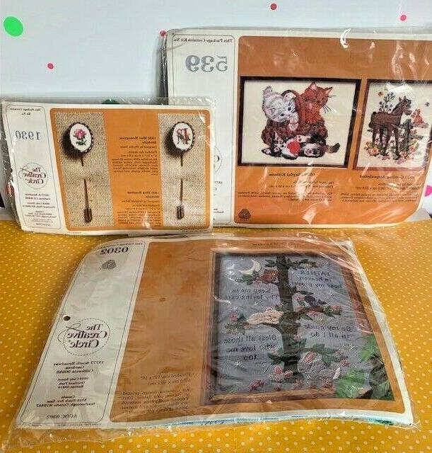 vintage needlepoint kits new in packages