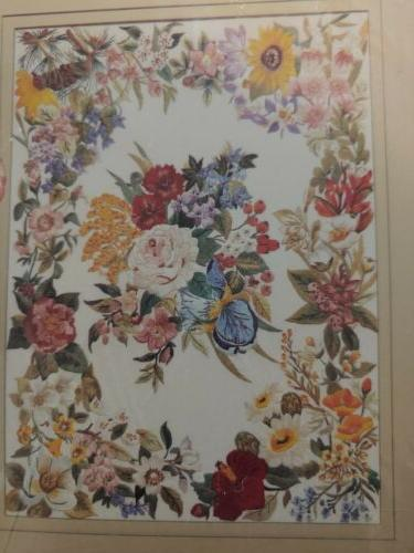 vtg embroidery kit american floral picture 80243
