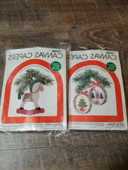 lot of 2 canvas capers plastic canvas
