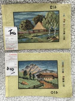 lot of 2 needlepoint canvases river 412