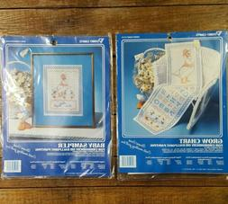 Vogart Lot of 2 Printed Embroidery Kits Goose Growth Chart /