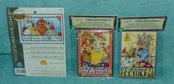 Lot of 3 Needlepoint kits 2 Mary Engelbreit & 1 Dimensions Q