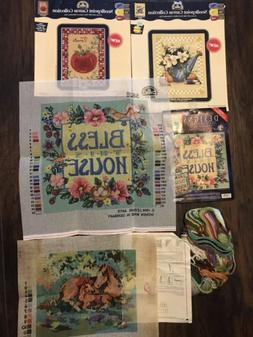 Lot of NEW DMC NEEDLEPOINT CANVAS COLLECTION & From The Hear