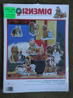 Dimensions Needlepoint Ornament Kit Holiday Hounds Set Of 8