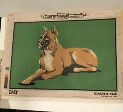 NEEDLEPOINT PRINTED CANVAS OF Boxer Dog  BY MARGOT OF PARIS