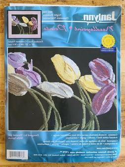 night dancers tulips flowers floral needlepoint kit