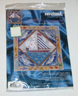 rare janlynn sea biscuit needlepoint canvas size