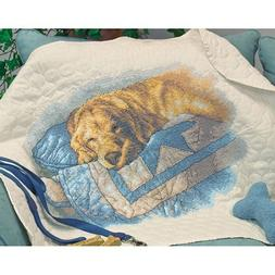 Snooze Quilt Stamped Cross Stitch Kit