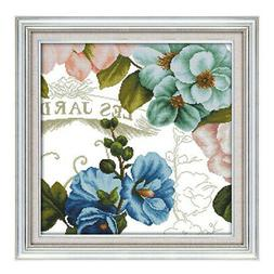 Stamped Cross Stitch Kits Orchid Pattern Needlepoint for Adu