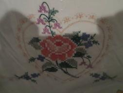Stamped HEART & ROSES Pillowcases Bucilla Special Edition NE