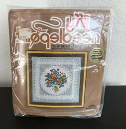Vintage JIFFY Needlepoint 'Lace Nosegay-Blue' Unopened F