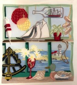 Window On The Cape, Nautical Themed Pillow Cover Needlepoint