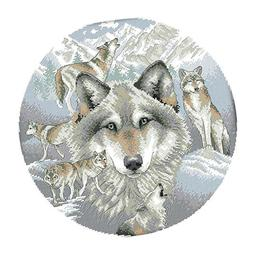 Wolf Cross Stitch Stamped/Counted Kits Patterns Embroidery N